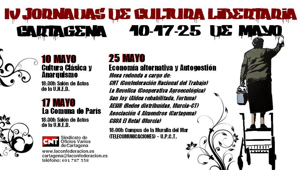 BAnner cartel IV Jornadas de Cultura Libertaria CTa